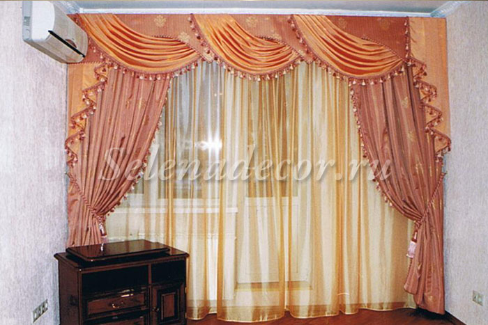 Оранжевый дизайн спальни